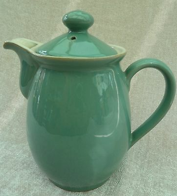 Vintage Denby Manor Green 1½ pint Coffee pot/hot water with lid,chip on spout