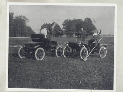 1903 ? Oldsmobile Curved Dash & Women Automobile Polo Factory Photo wy8149