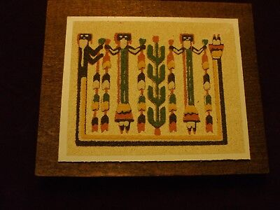 Native American Authentic Navajo Indian Yei Gods Sand Painting Framed