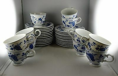 35 Pcs. Royal Meissen Fine China Of Japan Blue Floral - Cups, Saucers, Breads
