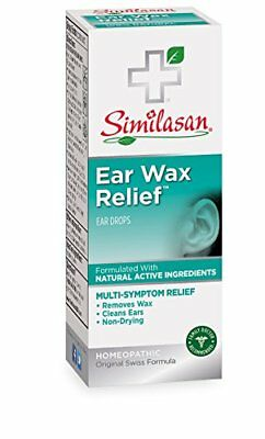 Similasan 100% Natural Ear Wax Relief Ear Drops, Multi-Symptom 0.33 Oz/10 ml