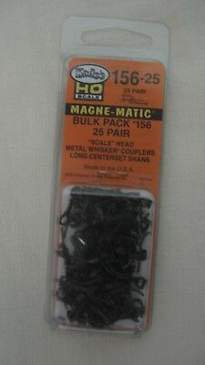 Kadee #156-25 HO Magne-Matic Scale Whisker Couplers Bulk Pack 25-pair of #156's