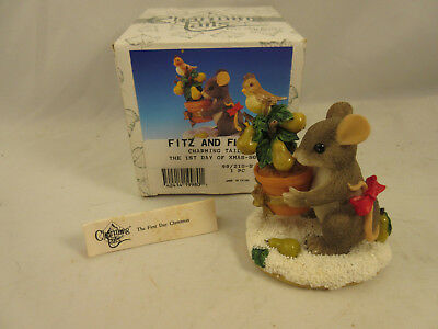 CHARMING TAILS The First Day of Christmas Special Edition 1999 #98/210 Autograph