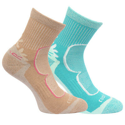 Regatta Damen 2 Paar Aktiv Lifestyle Socken Toffee 6-8