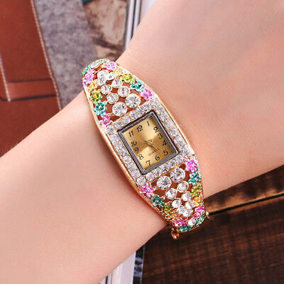 New Wrist Watch for Girls kids Children Woman Fashion Crystal Gold Plated Quartz