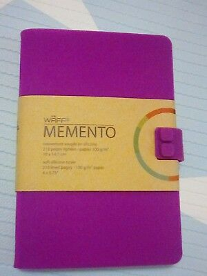 WAFF Memento soft silicone cover 210 lined pages vibrant purple