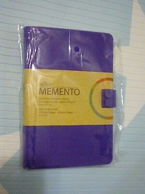 WAFF Memento soft silicone cover 210 lined pages purple
