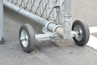 ROLLING GATE WHEEL CARRIER: for Chain Link Rolling Gates XL HEAVY DUTY galv