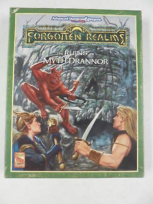 AD&D Forgotten Realms Boxed Set TSR 1084 THE RUINS OF MYTH DRANNOR Used With MAP
