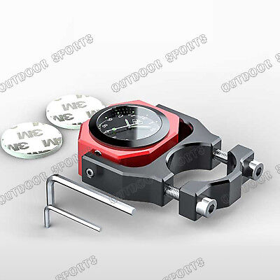 """CNC Waterproof Thermometer Clock Watch Handle bars Mount For Harley 7/8""""-1 1/8"""""""
