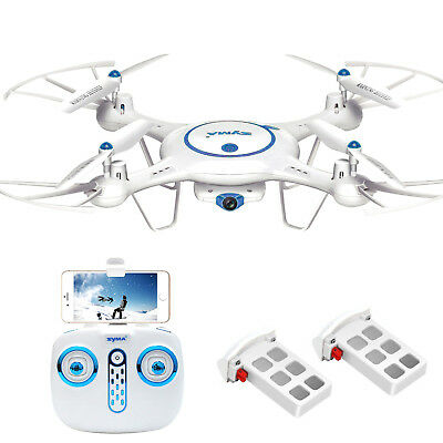 2 Batteries Syma X5UW RC Quadcopter Drone Wifi FPV With 2.4Ghz 720P HD Camera