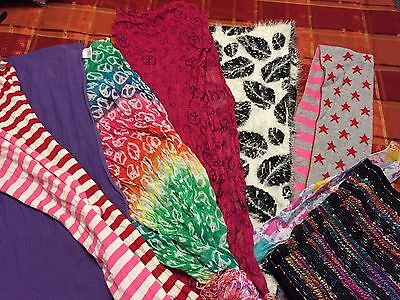 Huge LOT Of 9 Fashion Scarfs Price Reduced!!