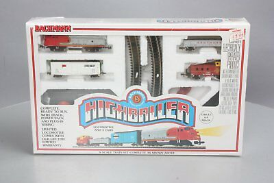 Bachmann 24300 N Scale Highballer Electric Train Set NIB