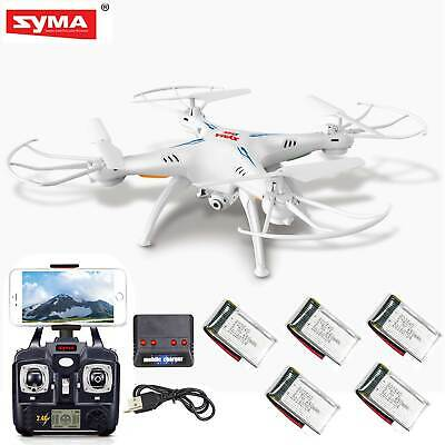 5 Batteries Syma X5SW-V3 RC Quadcopter Drone WIFI FPV Headless 2.4G HD Camera