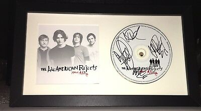 All American Rejects Full Band Signed Move Along Cd Album Autograph Framed Proof