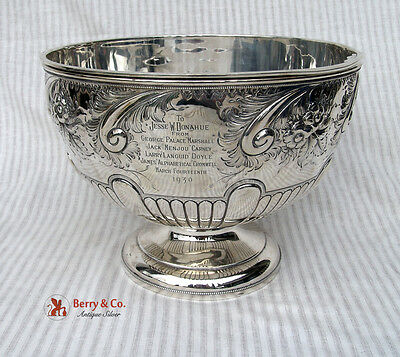 Large Ornate Punch Bowl Sterling Silver 1895