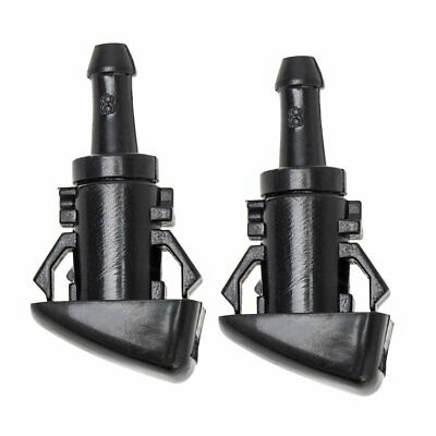 2x Windshield Washer Wiper Water Spray Nozzle for Chrysler Dodge Charger Ram Bla