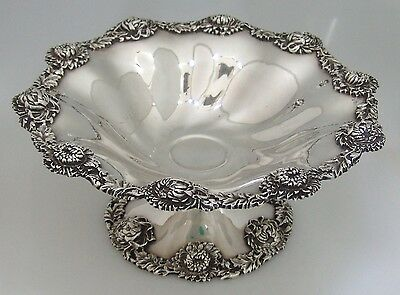 Sterling Silver Chrysanthemum Compote Dominick and Haff 1896