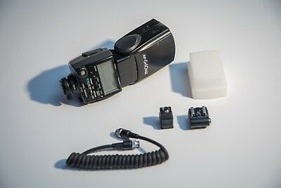 Pentax AF 540 FGZ flash w/ Stofen diffuser and OCF cord