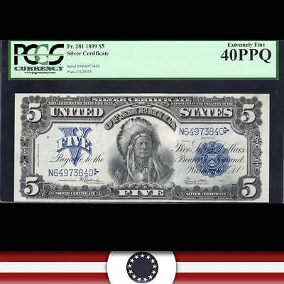 1899 $5 Silver Certificate CHIEF PCGS 40 PPQ Fr 281   N64973840