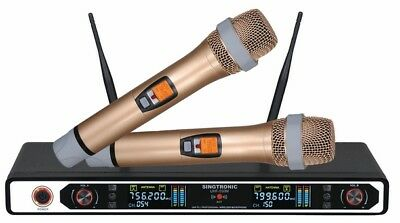 Singtronic Uhf-550M Professional Dual Pll Wireless Microphone