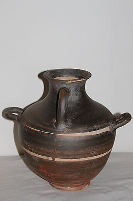 LARGE ANCIENT GREEK POTTERY HELLENISTIC HYDRIA 3rd CENTURY BC WINE JUG