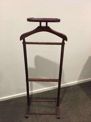 Vintage Wooden Clothes Valet Rack Groom Set Up Suit Stand Vic