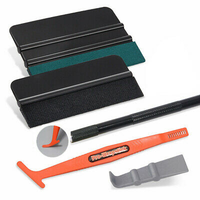 8 in 1 Car Wrapping Kit Vinyl Felt Squeegee Blades Cutter Decals Application
