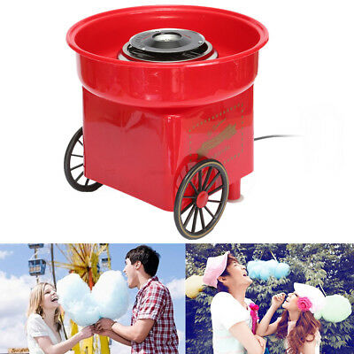 Electirc Candyfloss Making Machine Cotton Sugar Candy Floss Maker Party Red DIY
