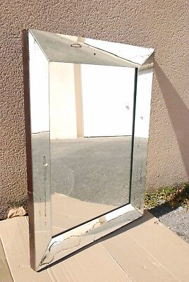 GRAND MIROIR MODERNISTE ART DECO An 30/40 dlg Adnet