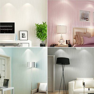 Removable Embossed Vinyl Vintage Wall Home Living Room Wallpaper Art Decal 3D
