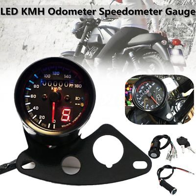 Universal 12V Motorcycle LED KMH Odometer Speedometer Gauge Meter For Honda Cafe
