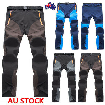 Men's Quick Drying Slim Cargo Trousers Outdoor Ski Hiking Snowboard Pants S-3XL