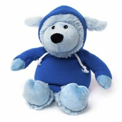 Heatable Soft Toy Microwave Hoody Blue Warmies Cosy Plush Gift Lavender Smell