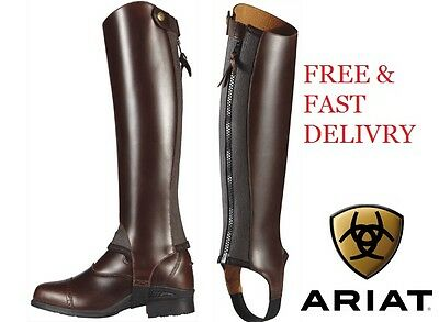 Ariat Close Contact Leather Riding Chaps All Sizes Black/Chocolate