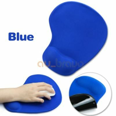 Mouse Pad Gel Comfort Wrist Soft Support Mat Gaming PC Laptop Computer BLACK