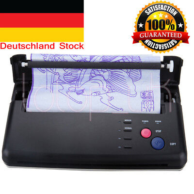 Pro Black Tattoo Transfer Copier Printer Machine Thermal Stencil Paper Maker DHL