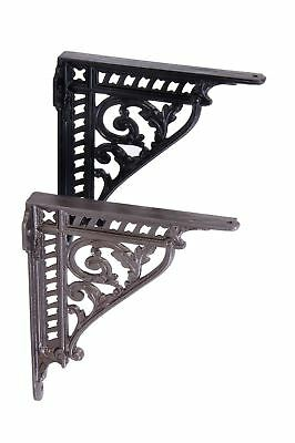 Cast Iron Ornate Bracket in Two Finishes with Multibuy Offers (310mm x 255mm)