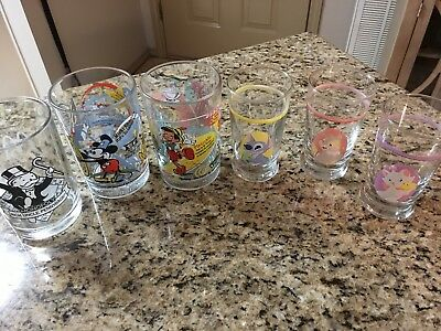 Mcdonalds Promo Beverage Glass Tumbler 100 Years of Walt Disney Monopoly more!