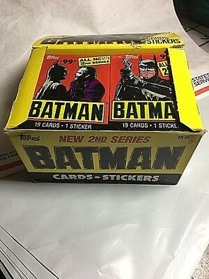 Topps Batman 1989 2nd Series Jumbo Cello Pack Unopened 19 Cards + 1 Sticker