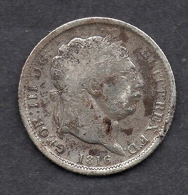 1816 George III sixpence United Kingdom Rare