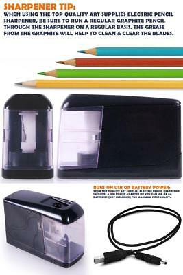 Personal Electric Pencil Sharpener Black 2017 Model Automatic Battery Operated