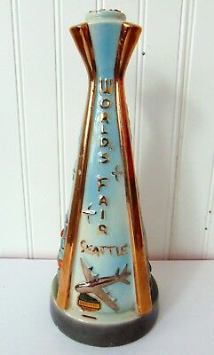 1962 Jim Beam World's fair SEATTLE  Century 21 Bottle Only with cork Top