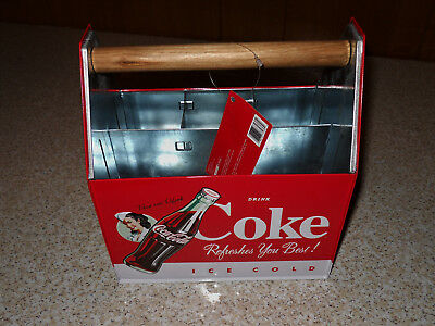 Coca-Cola Utensil Caddy 6 Pack Carrier Shaped With Tag