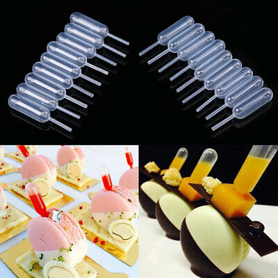 50pcs Mini Plastic Squeeze 4ml Transfer Pipettes Dropper For Cupcakes Ice Cream