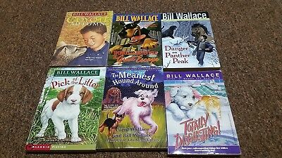 BILL WALLACE 9 children books PICK OF THE LITTER, COYOTE AUTUMN, NO DOGS ALLOWED
