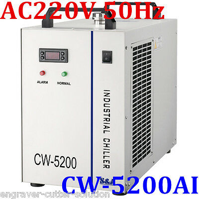 S&A AC220V CW-5200AI Industrial Water Chiller for RF Laser Tube / Laser Cooler