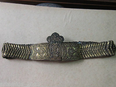 VERY RARE ANTIQUE OTTOMAN ERA SILVER BELT  1850 s HAND MADE Gold Plated