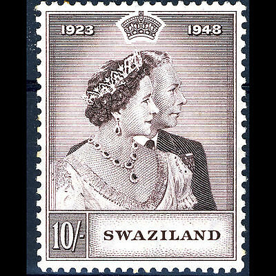 SWAZILAND 1948 10s Silver Wedding. SG 47. Mint Never Hinged. (AM350)