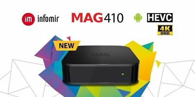 MAG 410 IPTV UHD Set Box Android 6.0 4K and HEVC support, built-in Wi-Fi module